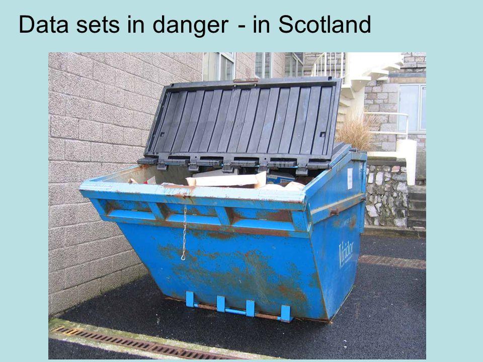 Data sets in danger- in Scotland