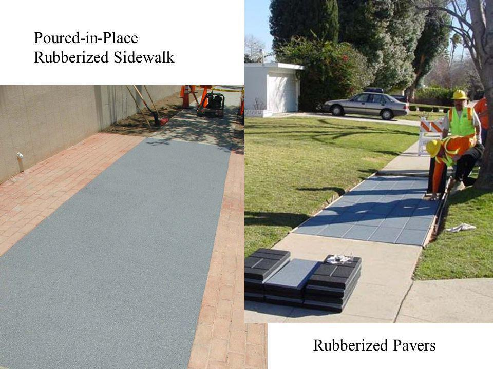 Poured-in-Place Rubberized Sidewalk Rubberized Pavers