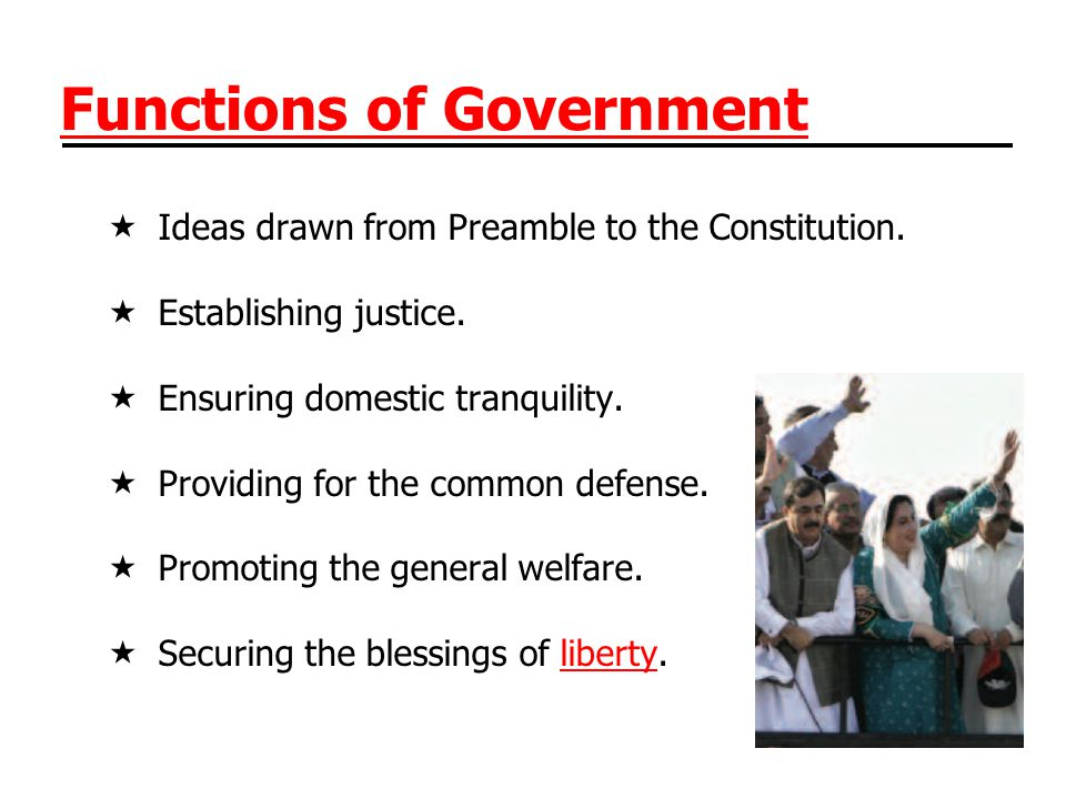 Types of Government Monarchy vests power in one in the interest of all.
