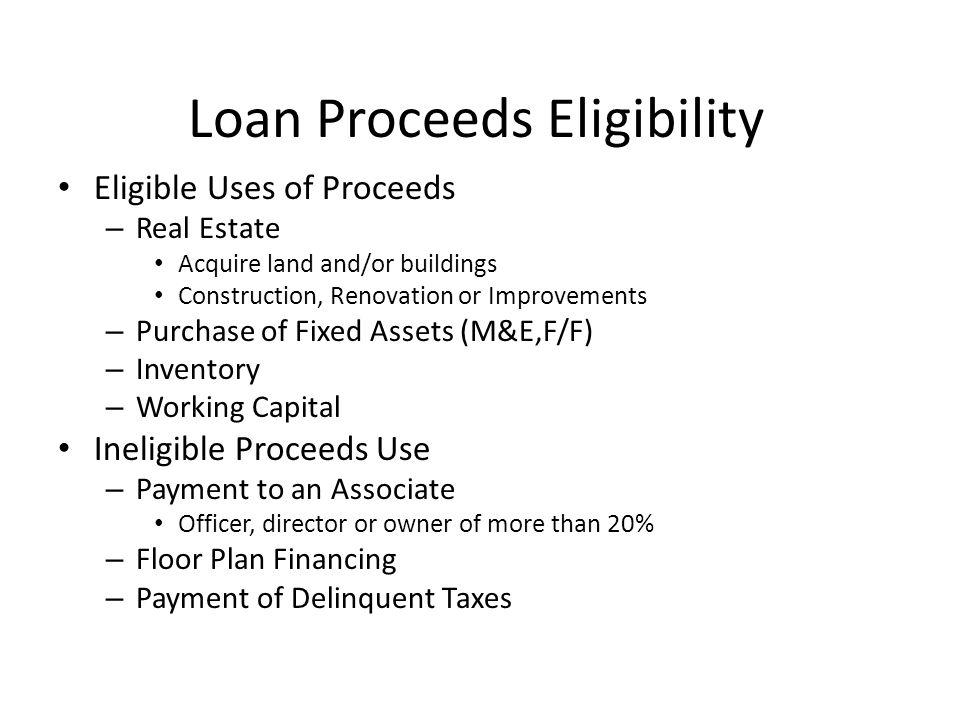 Debt Refinancing SBA does not refinance debt that is on reasonable terms.