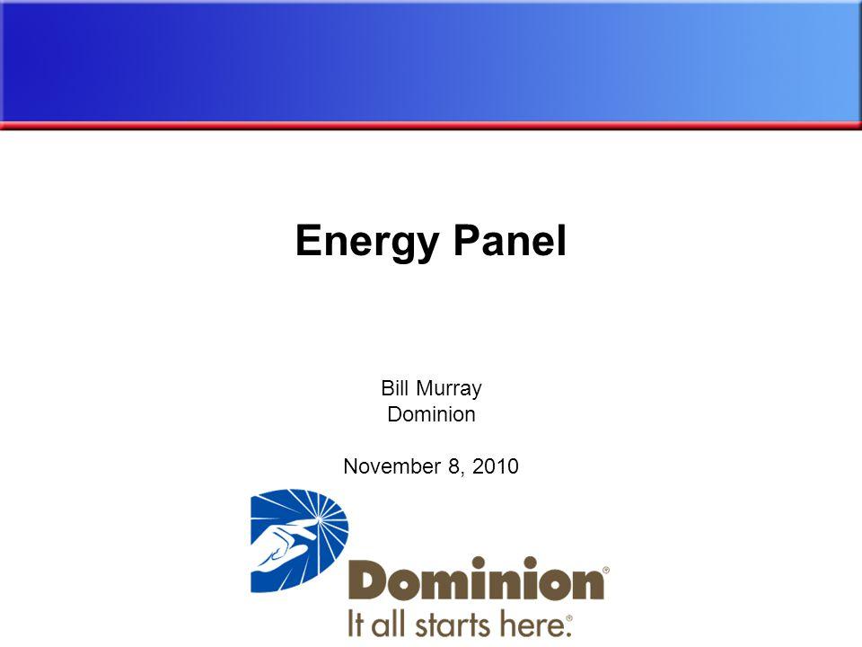 Bill Murray Dominion November 8, 2010 Energy Panel