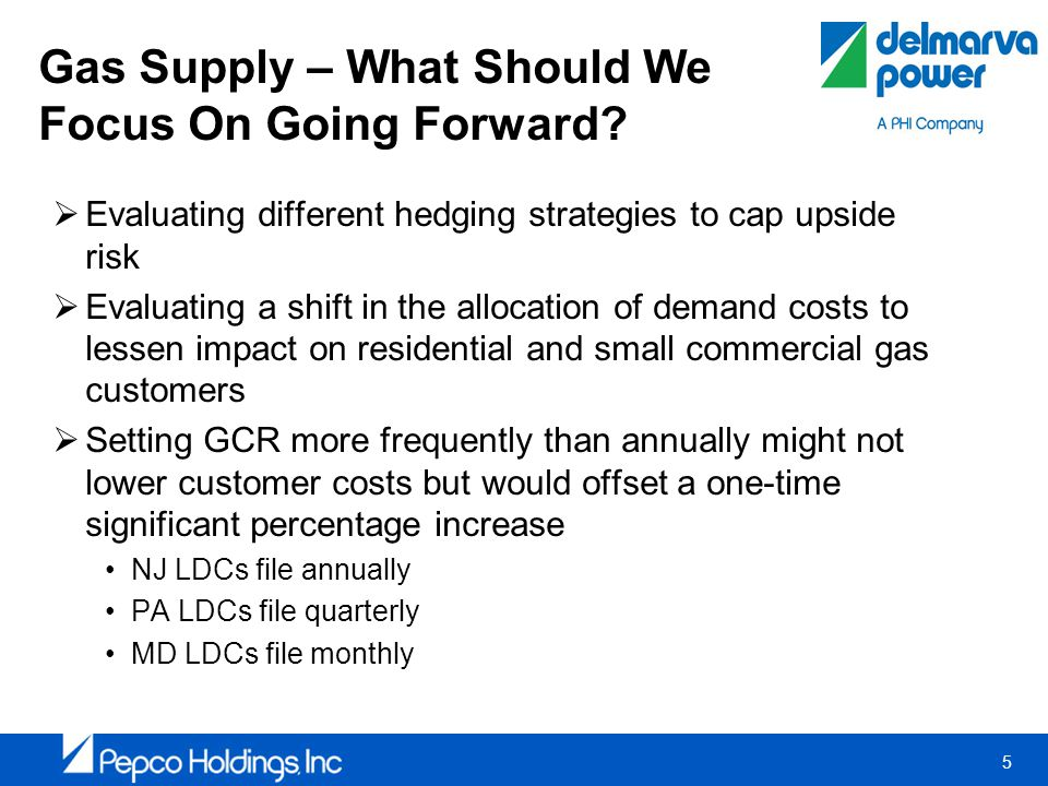 5 Gas Supply – What Should We Focus On Going Forward.