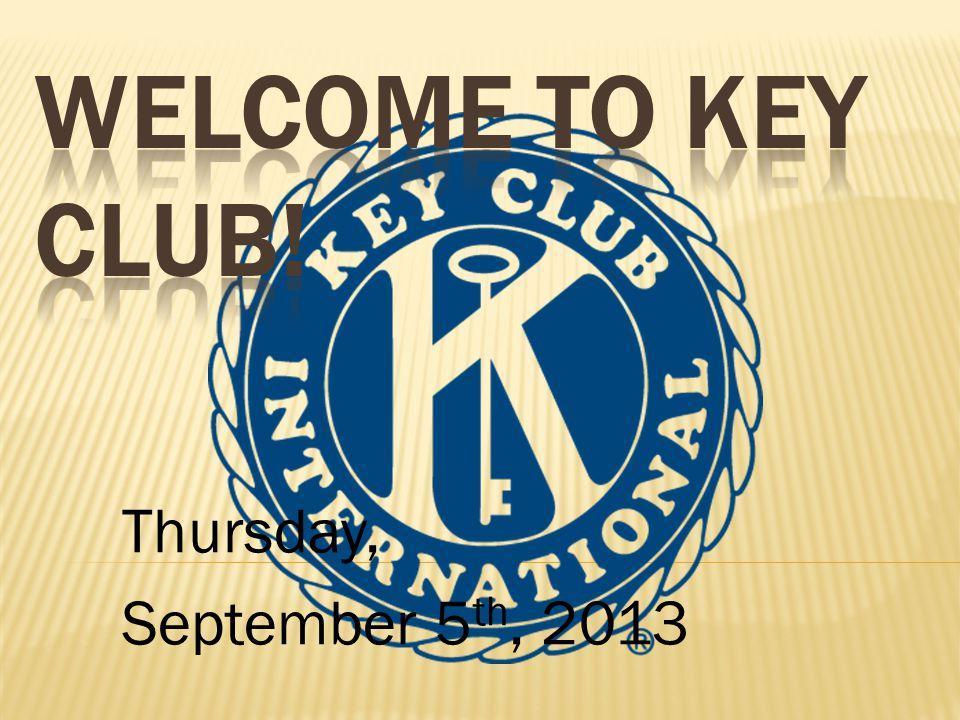 Thursday, September 5 th, 2013
