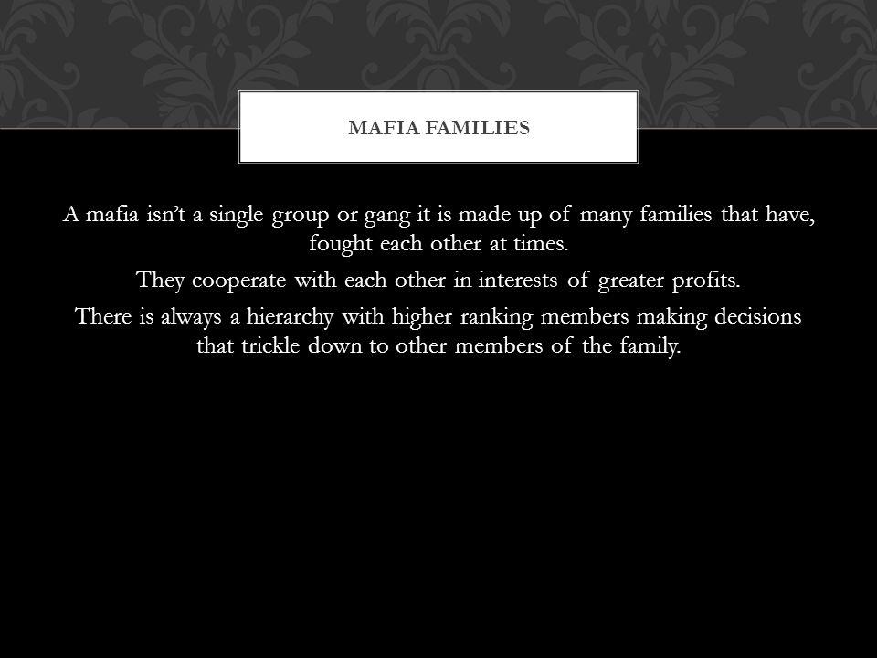 THE MAFIA FAMILY TREE