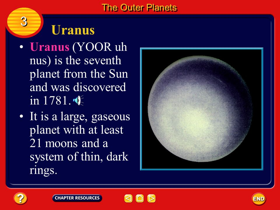 Rings and Moons At least 31 moons orbit Saturn. The largest of Saturn's moons, Titan, is larger than the planet Mercury. 3 3 The Outer Planets It has