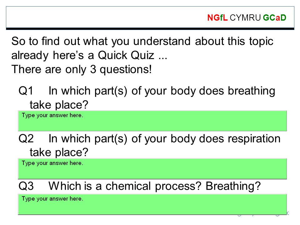 www.ngfl-cymru.org.uk NGfL CYMRU GCaD So to find out what you understand about this topic already heres a Quick Quiz...