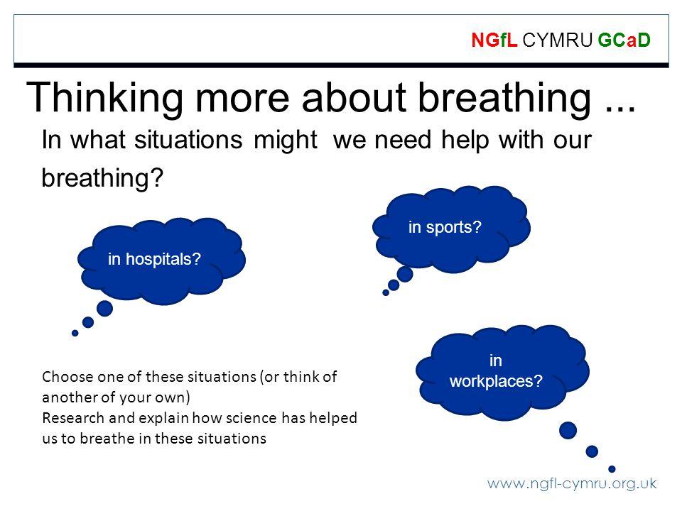 www.ngfl-cymru.org.uk NGfL CYMRU GCaD Thinking more about breathing...
