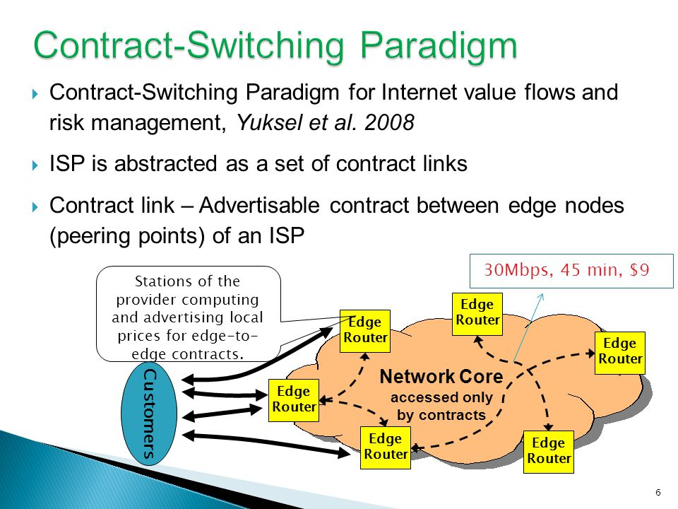 Contract-Switching Paradigm for Internet value flows and risk management, Yuksel et al.