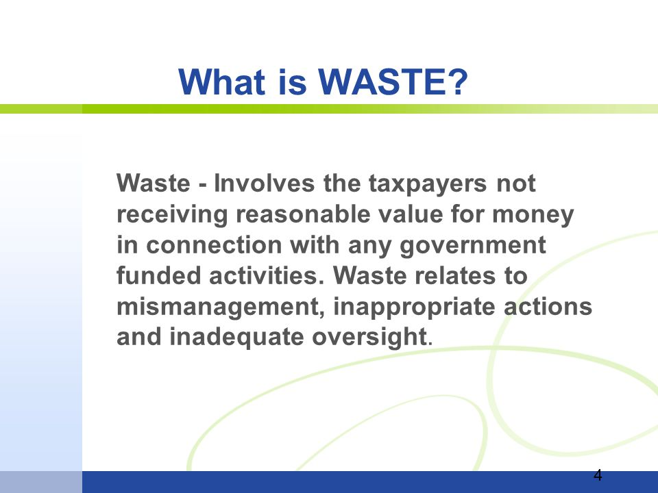 What is WASTE.