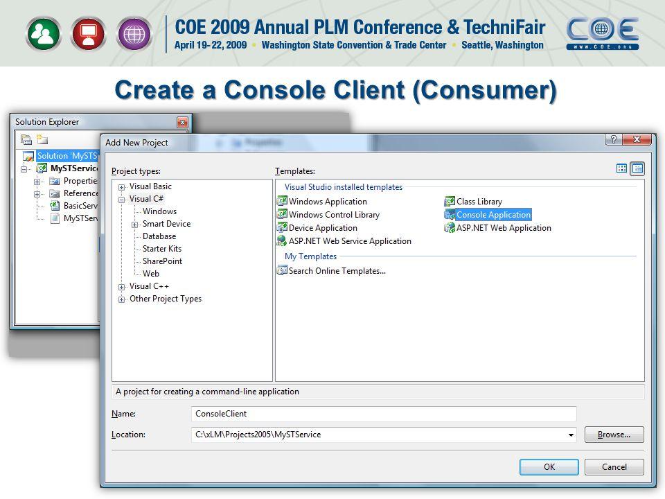 Create a Console Client (Consumer)