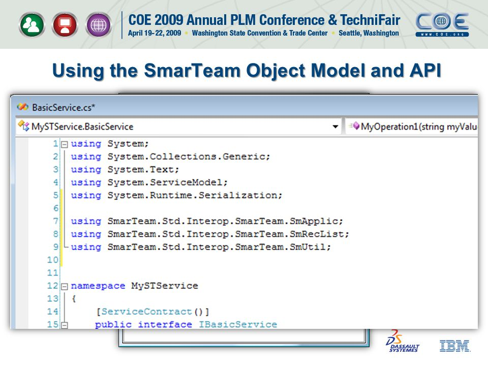 Using the SmarTeam Object Model and API