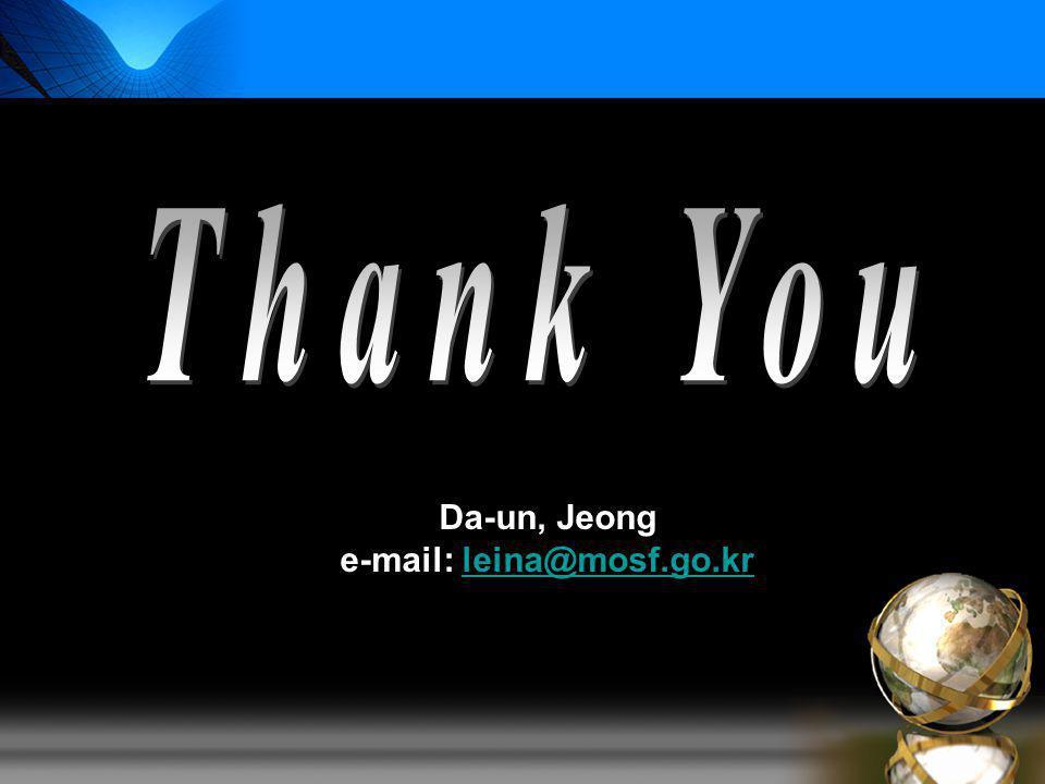 Da-un, Jeong e-mail: leina@mosf.go.krleina@mosf.go.kr
