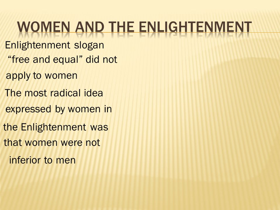 Mary Wollstonecraft advanced the strongest statement for the rights of women.