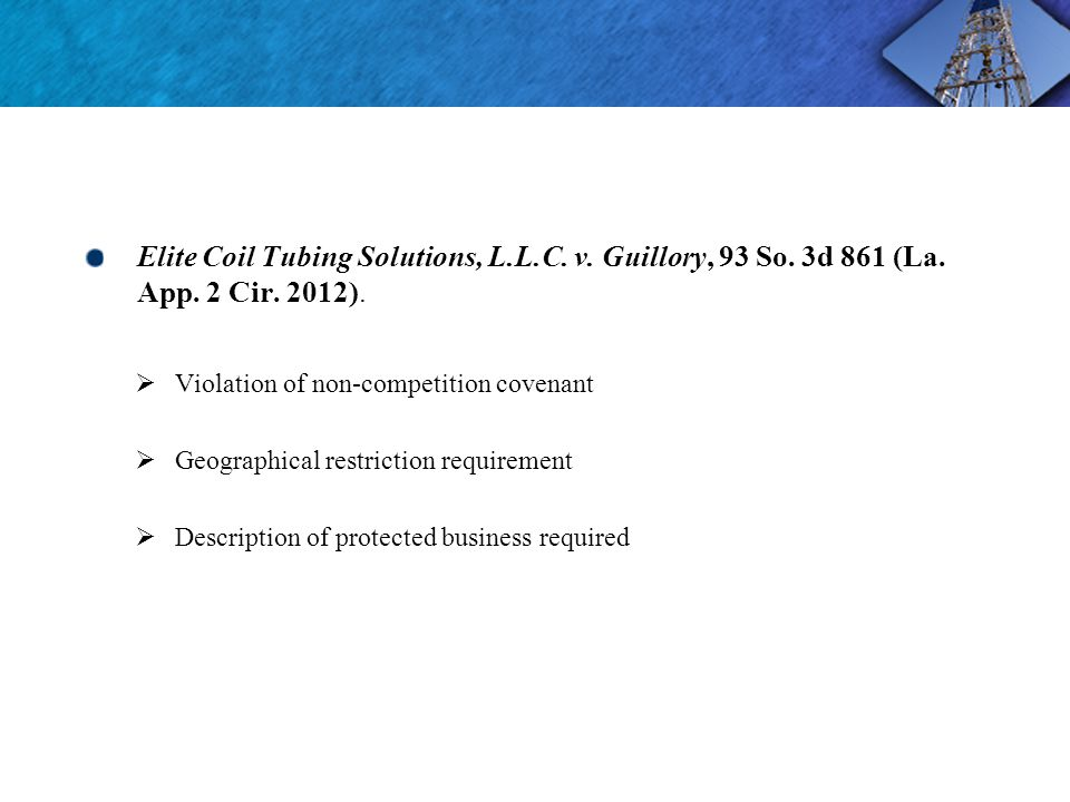 Elite Coil Tubing Solutions, L.L.C. v. Guillory, 93 So.