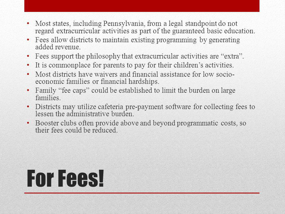 For Fees.