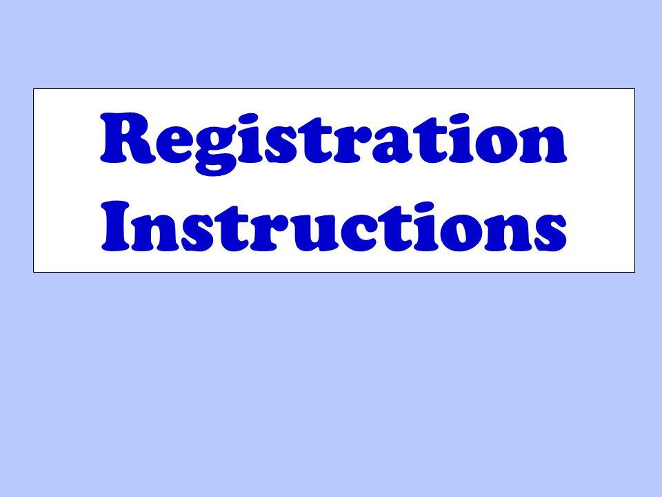 Registration Instructions