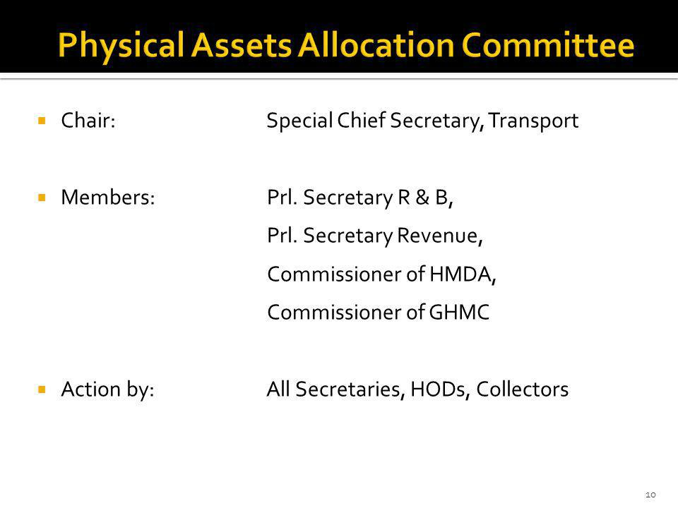 Chair: Special Chief Secretary, Transport Members: Prl.
