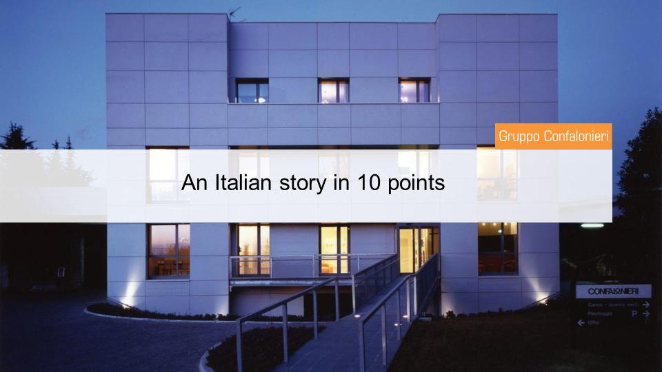 An Italian story in 10 points