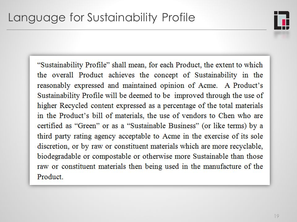 Language for Sustainability Profile 19
