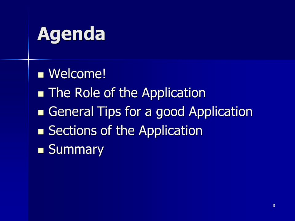 Agenda Welcome. Welcome.