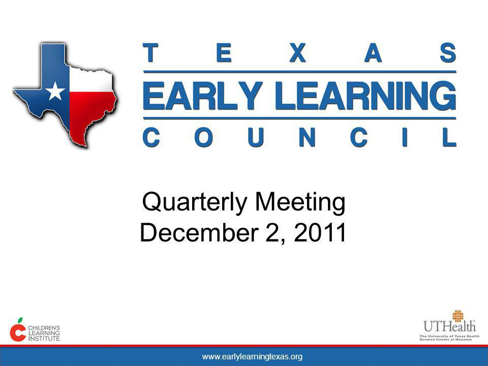 www.earlylearningtexas.org Open Testimony