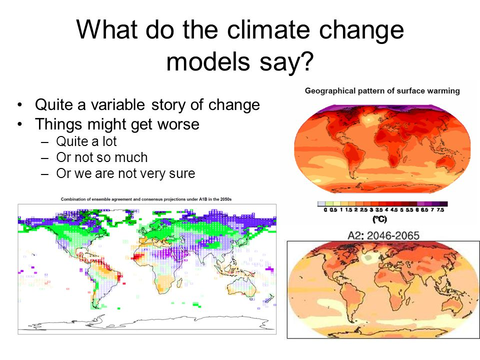 What do the climate change models say.