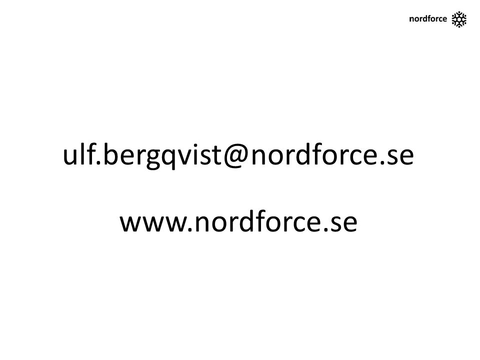 ulf.bergqvist@nordforce.se www.nordforce.se
