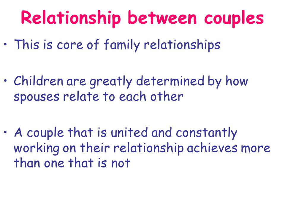 A stable, peaceful home creates stable children Parents need to be committed to each other and to their children A stable nest
