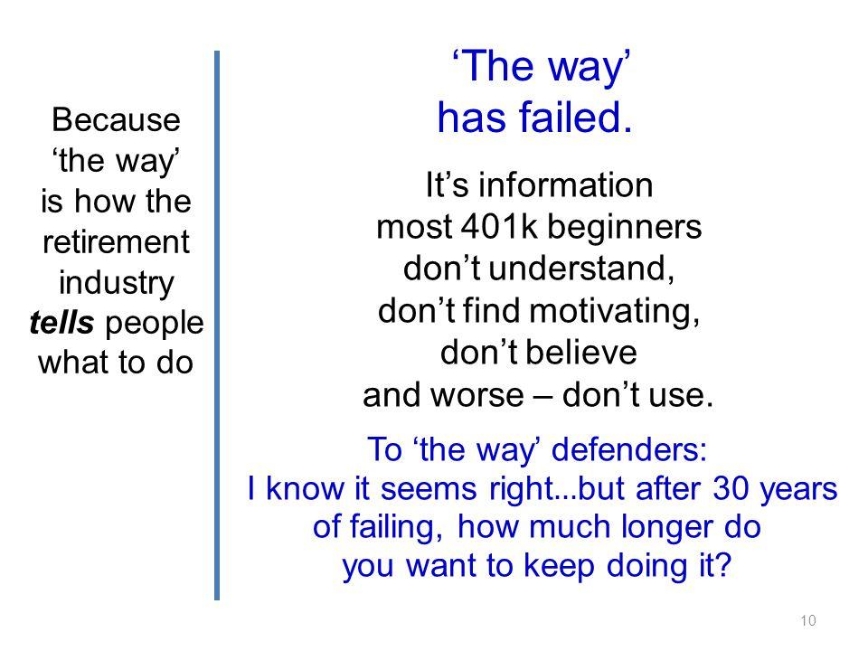 The way has failed.