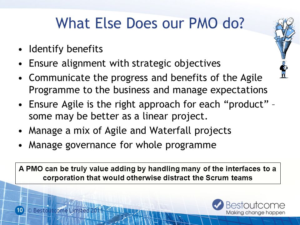 What Else Does our PMO do.