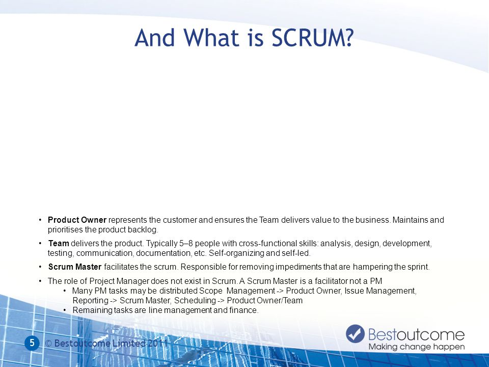 And What is SCRUM.
