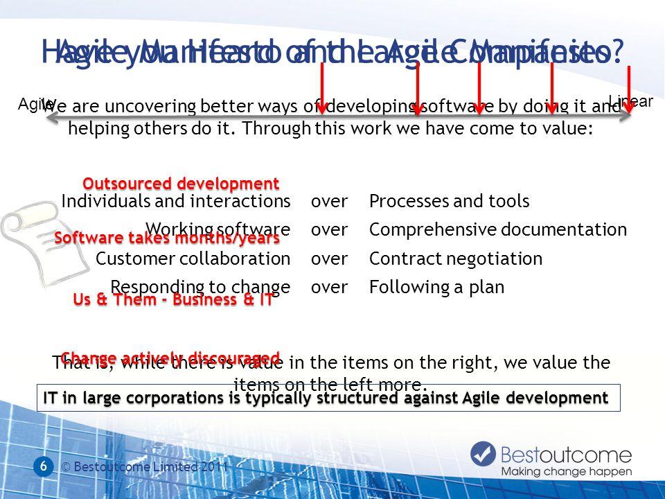 Agile Manifesto and Large CompaniesHave you Heard of the Agile Manifesto.