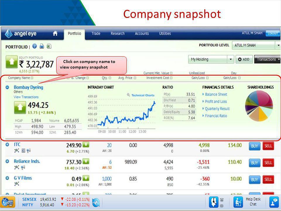 Company snapshot Click on company name to view company snapshot