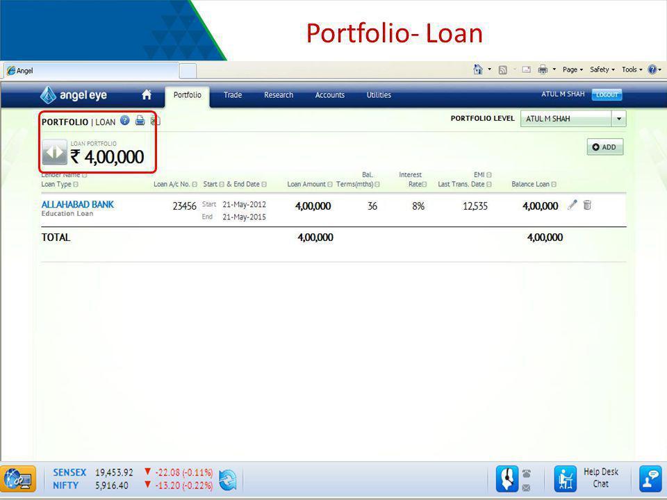 Portfolio- Loan