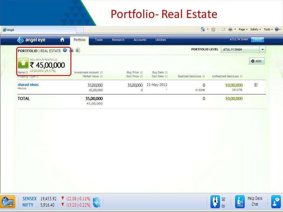 Portfolio- Real Estate