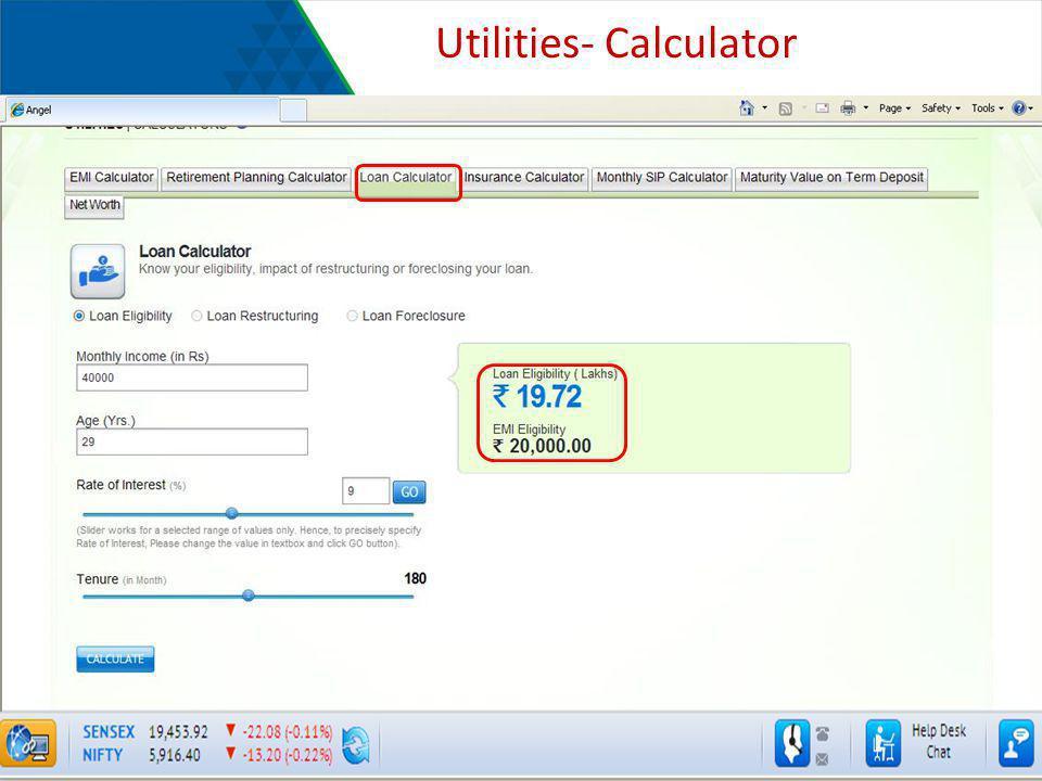 Utilities- Calculator