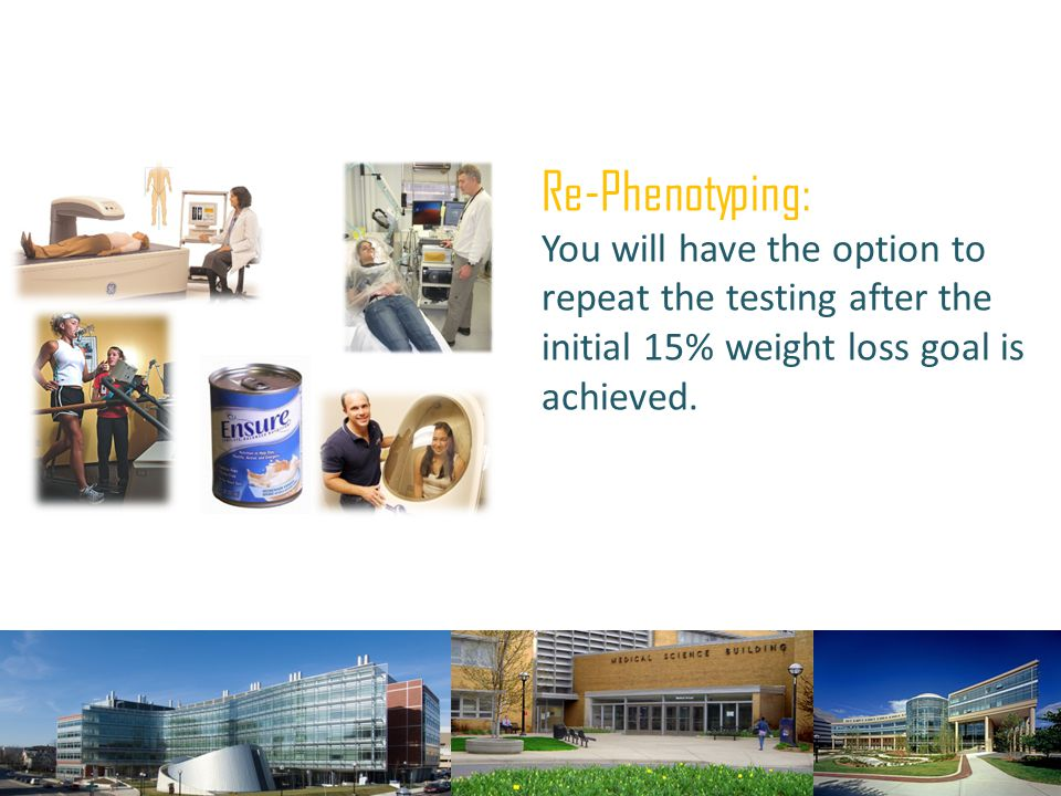 Re-Phenotyping: You will have the option to repeat the testing after the initial 15% weight loss goal is achieved.