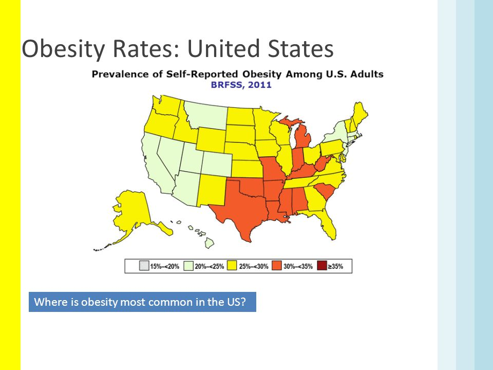 Obesity Rates: United States Where is obesity most common in the US?