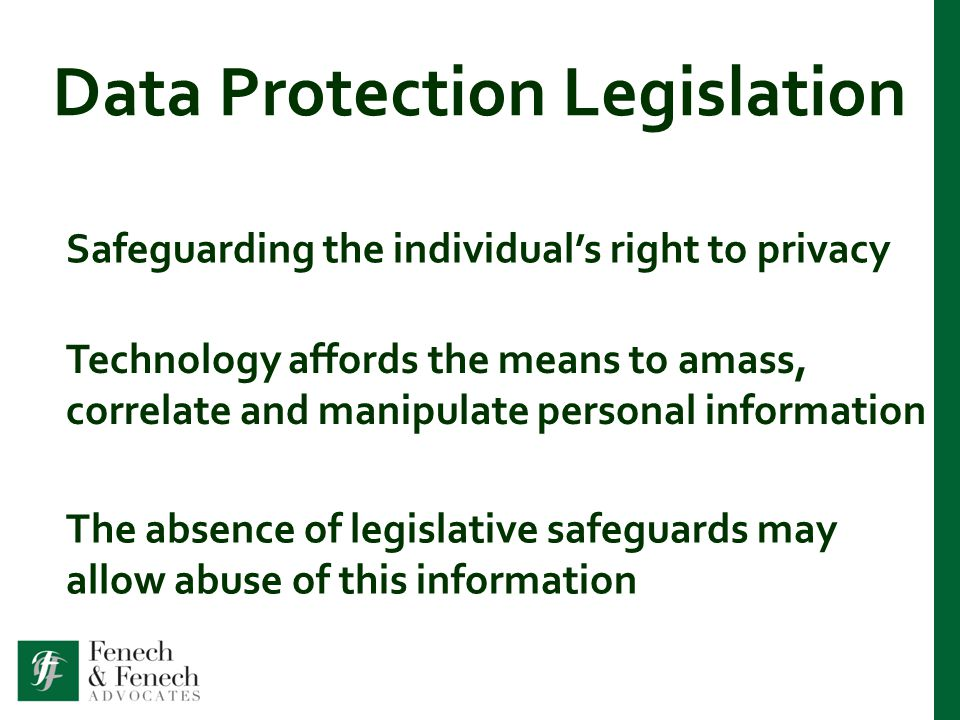Essential Features have obligations Data Controllers have obligations have rights Individuals have rights