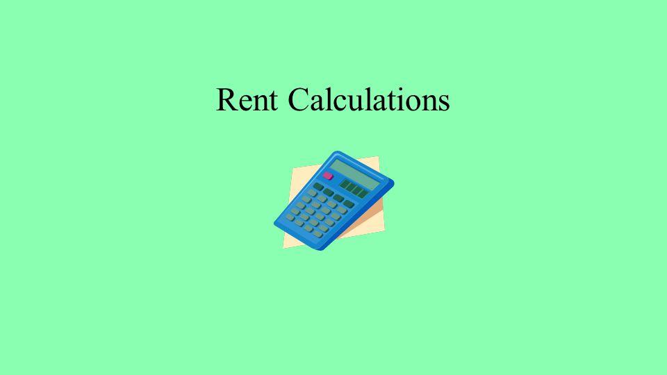 Rent Calculations