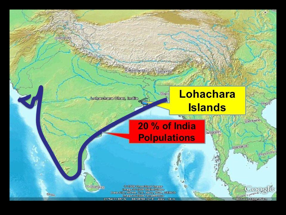 Lohachara Islands 20 % of India Polpulations
