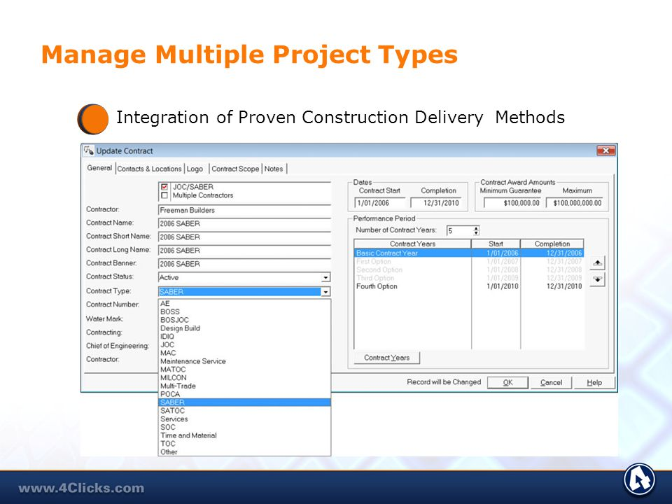 Manage Multiple Project Types Integration of Proven Construction Delivery Methods