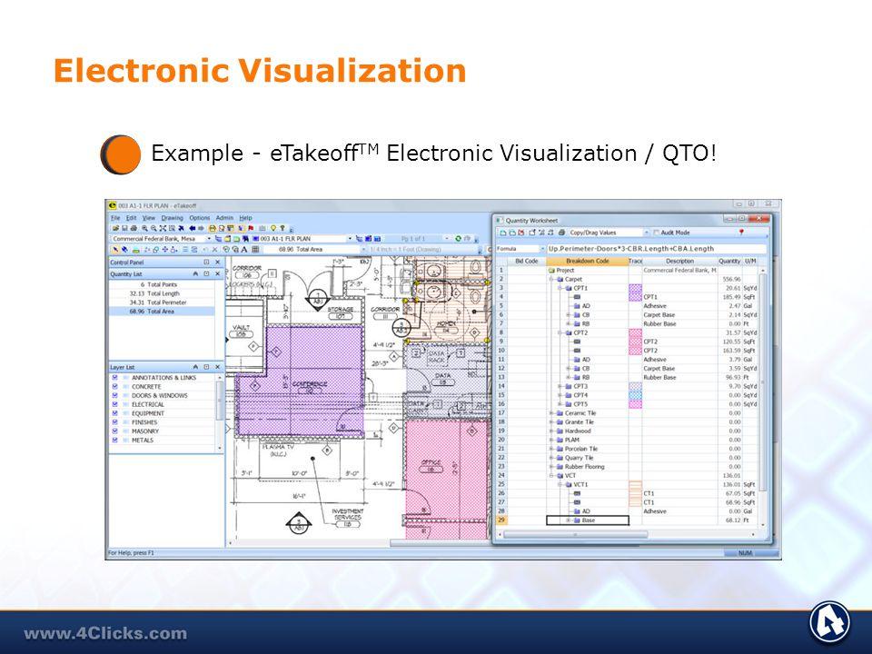 Electronic Visualization Example - eTakeoff TM Electronic Visualization / QTO!