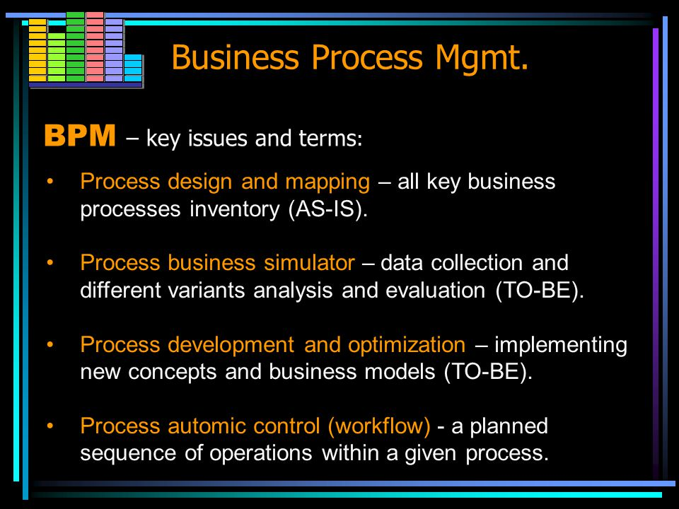Business Process Mgmt.