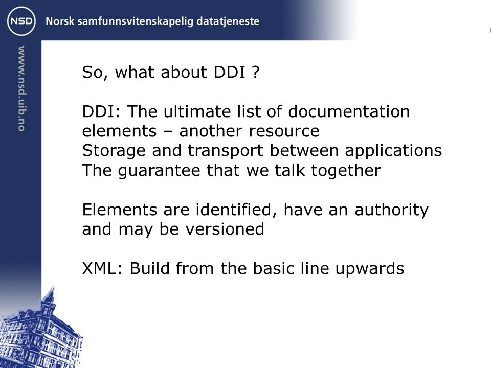 So, what about DDI .