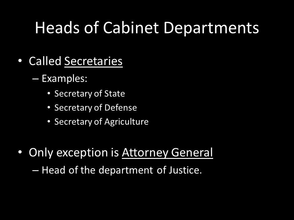 Chapter 8.1 The Presidents Cabinet In addition to the Executive ...