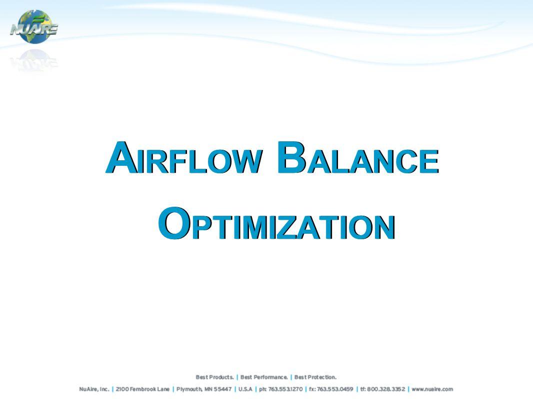 A IRFLOW B ALANCE O PTIMIZATION