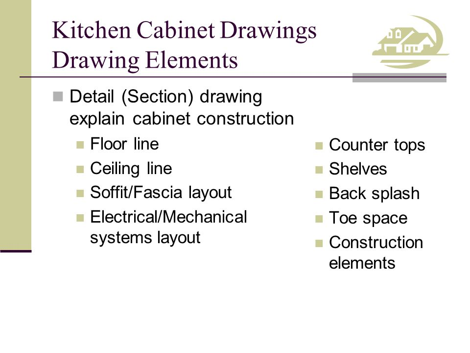 Kitchen Cabinet Drawings Dimensions and Annotations Base cabinet heights Wall cabinet heights Distance between countertop and wall cabinets Back splash height Counter top thickness Overall floor to ceiling height Wall & base cabinet depths Soffit/fascia depth Toe space depth & height