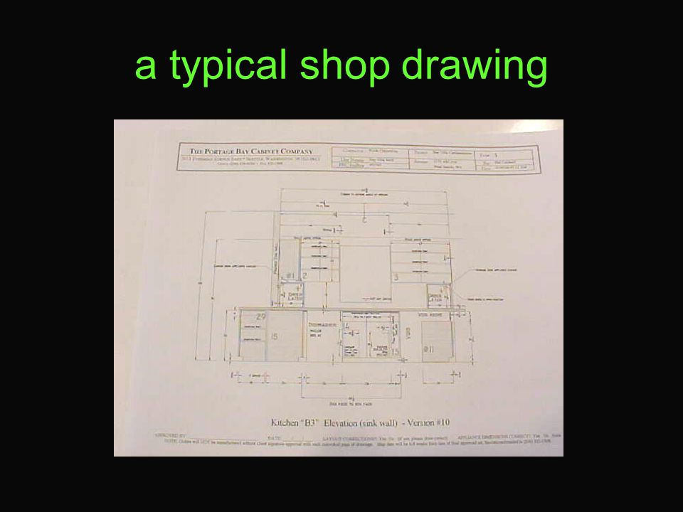 a typical shop drawing