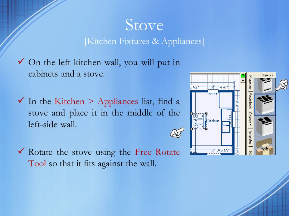 Kitchen Cabinets [Kitchen Fixtures & Appliances] Cabinets are the hardest to distinguish.